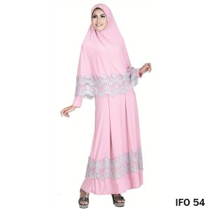 Gamis Jersey Pink – IFO 54