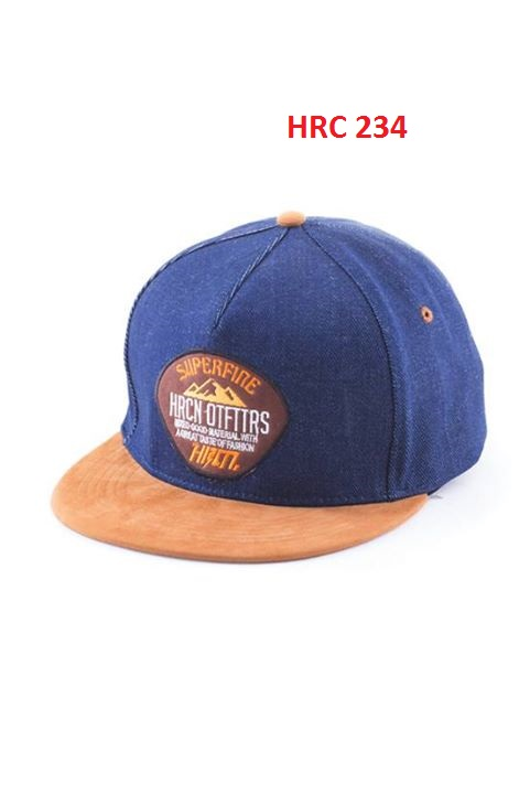 Cap And Beanies Blue Comb All Size Suede-Denim