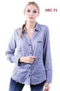 Polo Shirts For Female Grey S,M,L,XL Cotton  – HRC 71