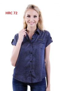 Polo Shirts For Female Blue S,M,L,XL Soft Denim – HRC 72