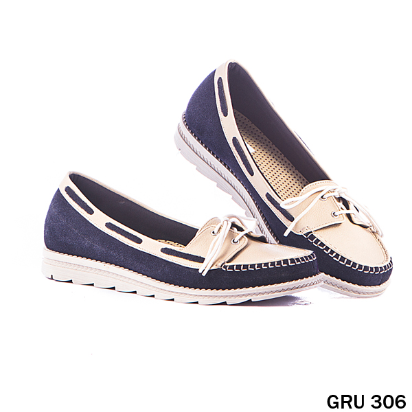 Female Flat Shoes Suede Synthetic TPR Cream