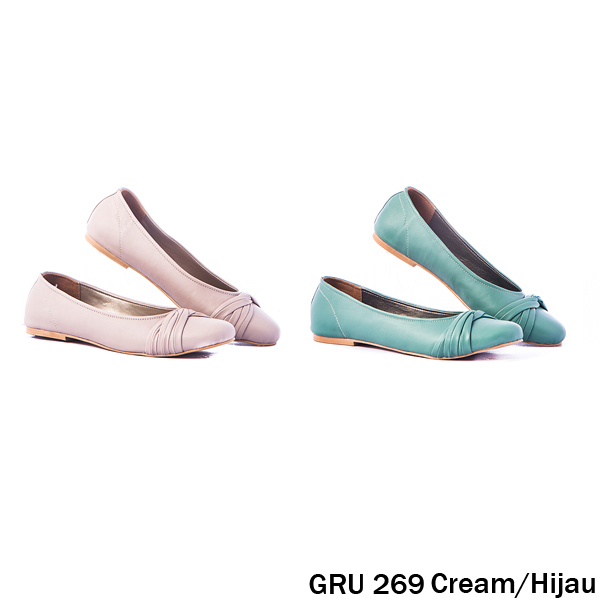 Female Flat Shoes Synthetic Fiber Cream