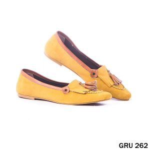 Female Flat Shoes Synthetic Fiber Tan – GRU 262