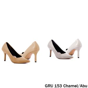 Sandal High Heels Synthetic Lak , Fiber Abu – GRU 153