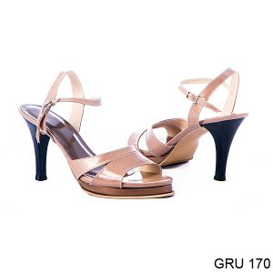 Sandal High Heels Synthetic Lak Fiber Chamel – GRU 170