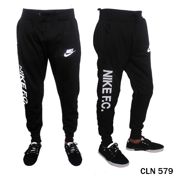 Jogger Pants Mens Baby Terry Hitam