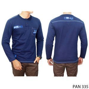 Kaos Panjang T-Shirt Casual Combed Cotton Dongker – PAN 335