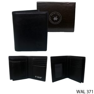 Leather Wallet For Mens Kulit Hitam – WAL 371