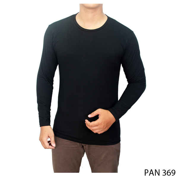 Long Sleeved Shirt Spandek Hitam
