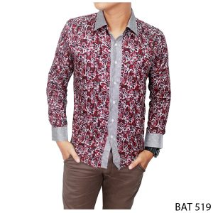 Formal Batik Shirt Katun Kombinasi Warna – BAT 519