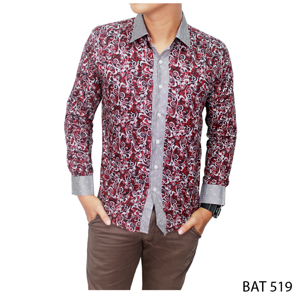 Formal Batik Shirt Katun Kombinasi Warna