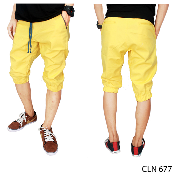 Joggers Pants For Boys Stretch Kuning