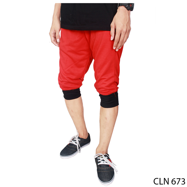 Joggers Pants Outfit Baby Terry Merah