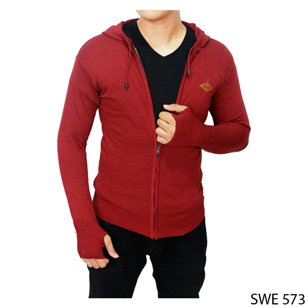 Knitted Sweaters For Guys Rajut Merah