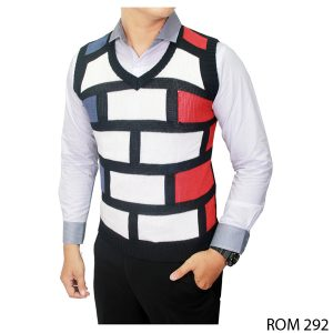 Knitted Vests For Boys Rajut Kombinasi Warna – ROM 292