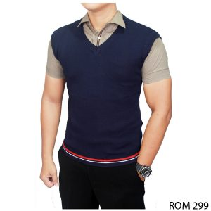 Male Vests Fashion Rajut Dongker – ROM 299
