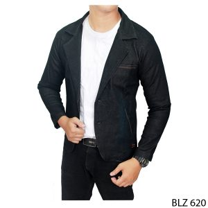 Semi Jas Fashion Katun Dongker – BLZ 620