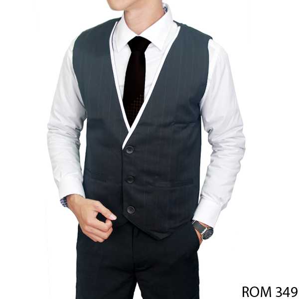 Male Formal Vest Katun Hitam