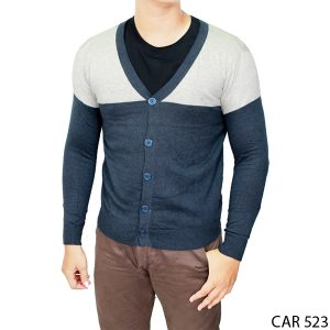 Male Knitted Cardigan Rajut Kombinasi Warna – CAR 523
