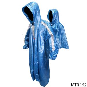 Raincoat For Motorcycle Rider Karet Biru – MTR 152