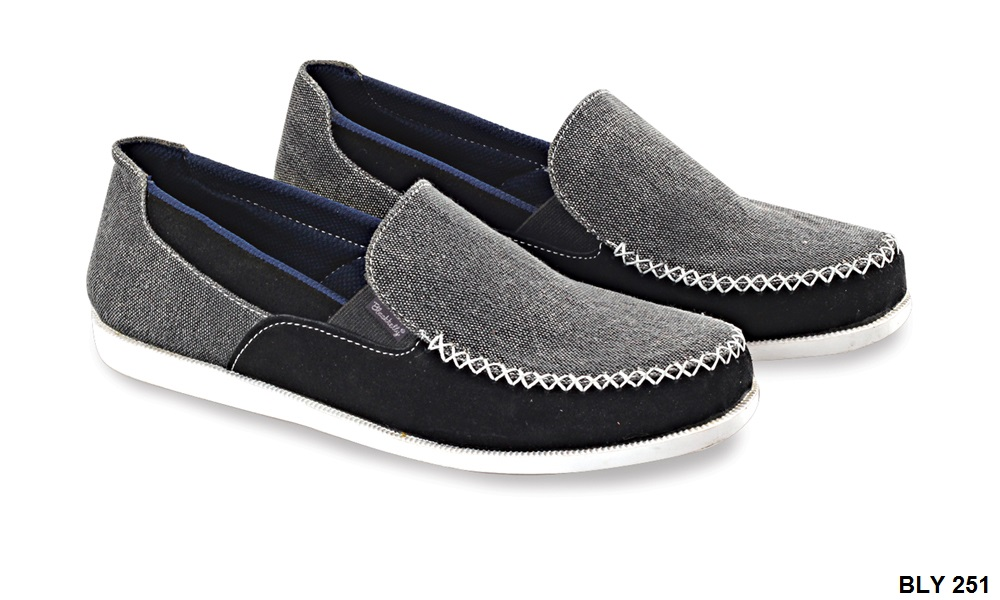 Casual Shoes For Mens Canvas Sol Tpr Abu Hitam