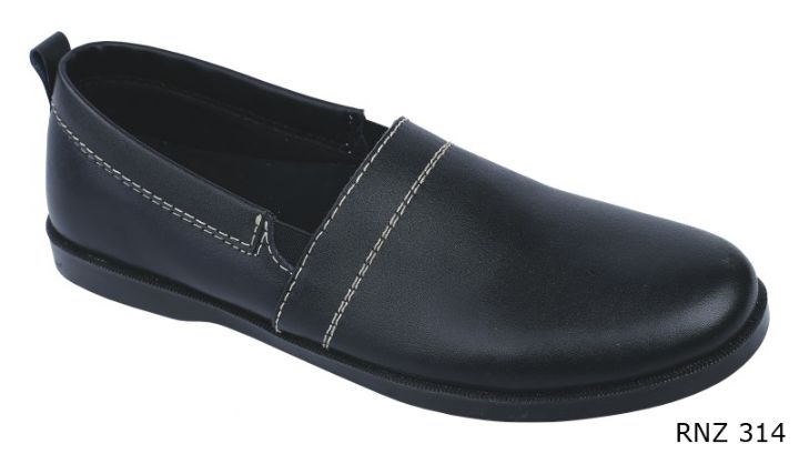 Casual Shoes For Mens Kulit Sol Tpr Hitam