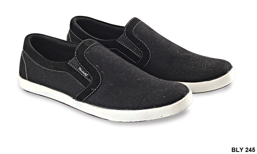 Casual Shoes Mens Style Canvas Sol Tpr Hitam