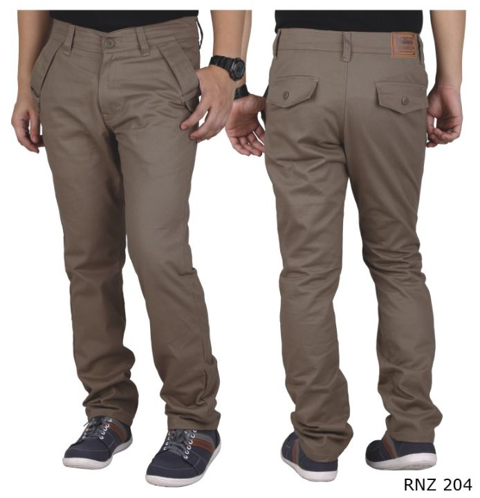 Celana Chino Panjang Cotton Coklat