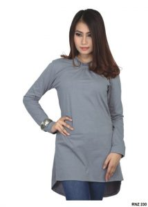 Dress Cantik Dan Elegan Cotton Abu – RNZ 230