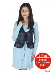 Dress Trendy Spandex Biru – RNZ 239