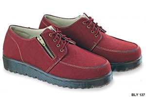 Female Boots Shoes Canvas Sol Karet Marun – BLY 137