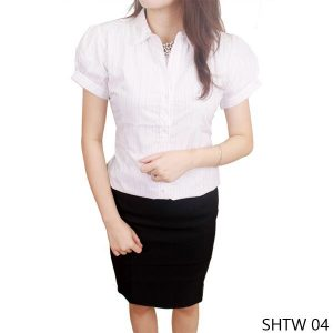 Female Shirt Katun Putih – SHTW 04
