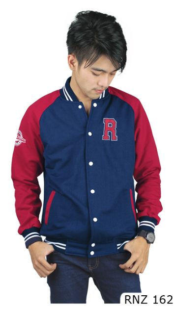 Jaket Fashion Fleece Biru Fleece Biru