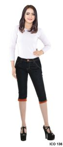 Jeans Perempuan Jeans Stretch Hitam – ICO 136