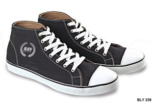 Male Casual Shoes Canvas Sol Karet Hitam – BLY 239
