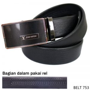 Mens Belt Fashion Semi Kulit Hitam – BELT 753