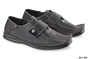 Semi Formal Male Shoes Kulit Sol Tpr Hitam – BLY 204
