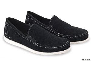 Semi Formal Male Shoes Kulit Sol Tpr Hitam – BLY 206