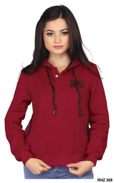 Sweater Wanita Online Fleece Marun