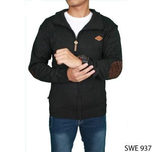 Business Casual Sweater Vest Rajut Hitam – SWE 937