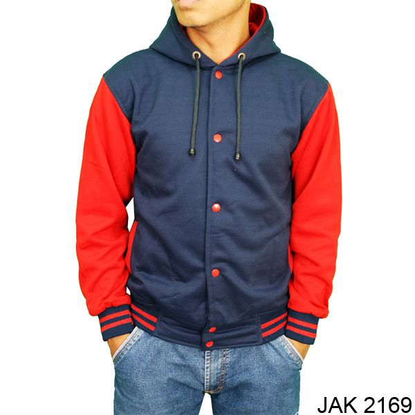 Jaket Baseball Gaul Fleece Navy