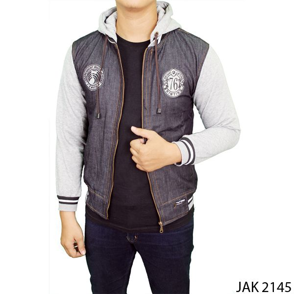 Jaket Jeans Fleece Jeans