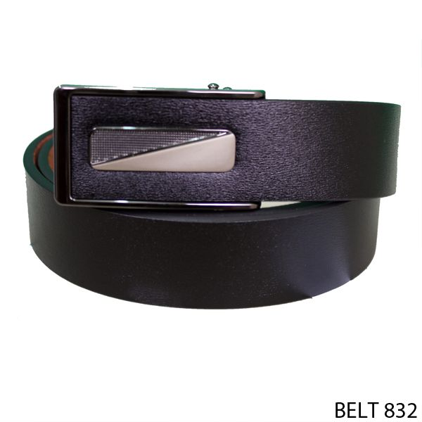 Men Belt Semi Kulit Hitam