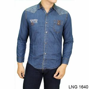 Men Clothing Casual Shirts Denim Biru – LNG 1640