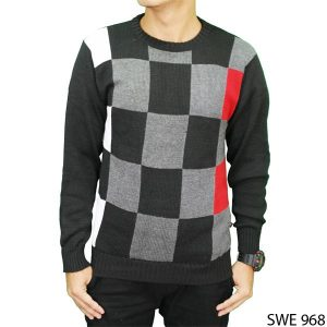 Mens Outfit Sweater Rajut Hitam – SWE 968