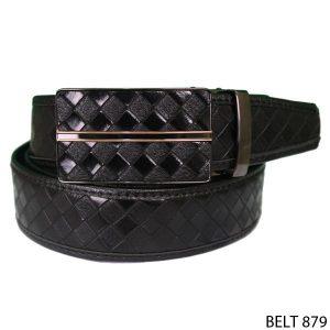 Mens Semi Leather Belts Semi Kulit  Hitam – BELT 879