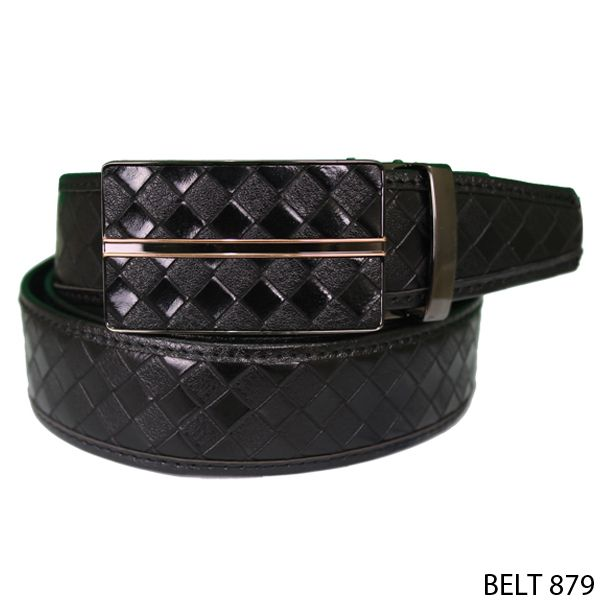 Mens Semi Leather Belts Semi Kulit  Hitam