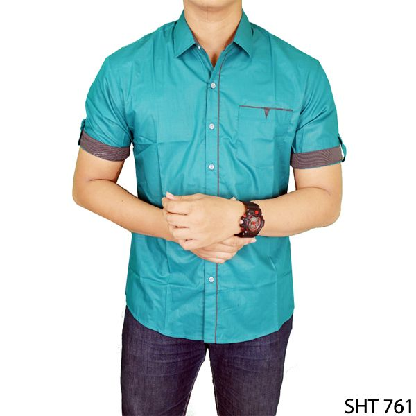 Stylish Shirt For Man Katun Hijau