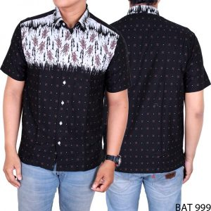 Kemeja Batik Modern Smart Elegant Simple Katun Hitam – BAT 999