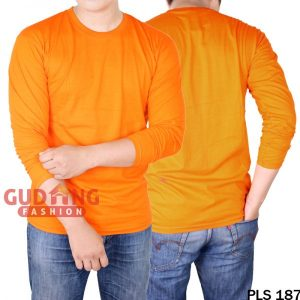 Atasan Casual Tshirt Pria Cotton Cardet Orange – PLS 187